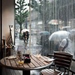 Larry's rainy San Juan cafe